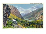 Yoho Nat'l Park, British Columbia - Train Passing Field Hill Prints by  Lantern Press
