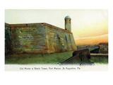 St. Augustine, Florida - Fort Marion Mortar and Watchtower Kunstdrucke von  Lantern Press