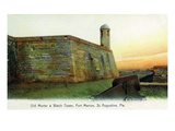 St. Augustine, Florida - Fort Marion Mortar and Watchtower Prints by  Lantern Press