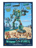 Laguna Beach, California - Atlantean Invaders Posters by  Lantern Press