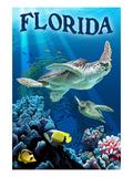 Florida - Sea Turtles Prints by  Lantern Press