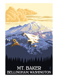 Mt. Baker, Washington Prints by  Lantern Press