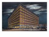 Winnipeg, Manitoba - T. Eaton Co Limited Store Exterior at Night Art by  Lantern Press