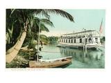 Miami, Florida - Houseboat on the Miami River Kunst von  Lantern Press