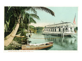 Miami, Florida - Houseboat on the Miami River Prints by  Lantern Press