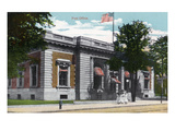 Battle Creek, Michigan - Post Office Exterior Art by Lantern Press