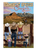 Steamboat Springs, Colorado - Cowgirls Poster by  Lantern Press