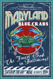 Baltimore, Maryland - Blue Crabs Plakater af Lantern Press
