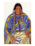Portrait of Julia-Wades-In-The-Water, Wife to Blackfeet Chief Prints by Lantern Press