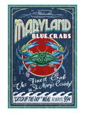 Blue Crabs - St Mary's County, Maryland Posters by Lantern Press