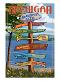 Traverse City, Michigan - Sign Destinations Prints by  Lantern Press