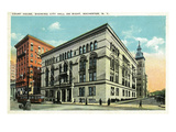 Rochester, New York - Court House and City Hall View Poster by  Lantern Press