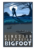 Kingston, Washington Bigfoot Art by  Lantern Press