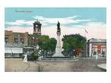 Battle Creek, Michigan - Monument Square Scene Posters by Lantern Press