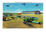 Saint Paul, Minnesota - Holman Municipal Airport View Prints by  Lantern Press