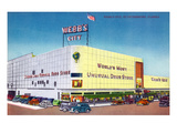 St. Petersburg, Florida - Exterior View of Webb's City Drugstore Prints by  Lantern Press