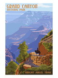 Grand Canyon National Park - Bright Angel Trail Prints by  Lantern Press