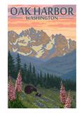 Spring Flowers - Oak Harbor, Washington Art by  Lantern Press
