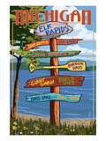 Elk Rapids, Michigan - Sign Destinations Posters by  Lantern Press