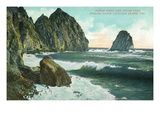 Santa Catalina Island, California - View of North Point and Sugar Loaf Prints by  Lantern Press