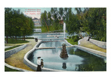 Los Angeles, California - Hollenbeck Park in Midwinter Scene Posters by  Lantern Press