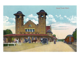 Battle Creek, Michigan - Grand Trunk Depot Exterior Prints by Lantern Press