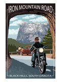 Black Hills, South Dakota - Iron Mountain Road Biker Scene Prints by  Lantern Press