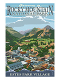 Estes Park Village, Colorado - Town View Prints by  Lantern Press