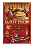 New England - Syrup Art by  Lantern Press