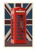 British Phone Booth Kunst af  Lantern Press