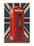 British Phone Booth Art by  Lantern Press
