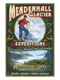 Juneau, Alaska - Mendenhall Glacier Tours Posters by  Lantern Press