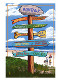 Montauk, New York - Sign Destinations Posters by  Lantern Press