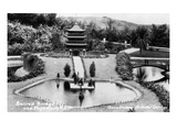 Hollywood, California - Bernheimer Residence, Sacred Bridge and Pogoda of Nara Photo Print by  Lantern Press