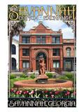 Savannah, Georgia - The Cotton Exchange Poster par  Lantern Press