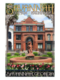 Savannah, Georgia - The Cotton Exchange Poster by Lantern Press 