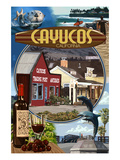 Cayucos, California - Montage Scenes Print by  Lantern Press