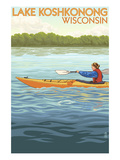 Lake Koshkonong, Wisconsin - Kayak Scene Prints by  Lantern Press