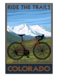 Mountain Bike - Colorado Art by  Lantern Press