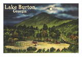 Lake Burton, Georgia - Moonlit Scene Posters by  Lantern Press
