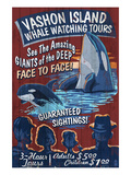 Vashon Island, Washington - Whale Watching Posters by  Lantern Press
