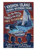 Vashon Island, Washington - Whale Watching Posters by  Lantern Press