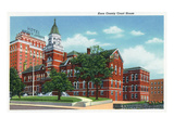 Knoxville, Tennessee - Exterior View of the Knox County Court House Prints by  Lantern Press