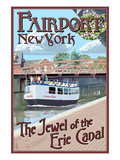 Fairport, New York - Erie Canal Scene Prints by  Lantern Press
