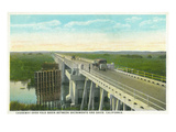 Davis, California - Causeway over Yolo Basin Towards Sacramento Posters by  Lantern Press