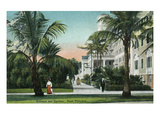 Palm Beach, Florida - Royal Poinciana Entrance and Grounds View Prints by  Lantern Press