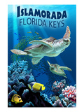 Islamorada, Florida Keys - Sea Turtles Posters by  Lantern Press