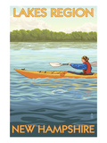 Lakes Region, New Hampshire - Kayak Scene Prints by Lantern Press