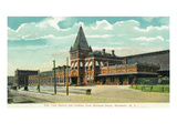 Rochester, New York - New York Central and Hudson River Railroad Depot Prints by  Lantern Press