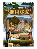 Santa Cruz, California - Scenes Montage Art by Lantern Press